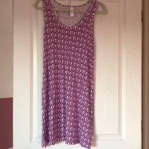 Yala dress size M in purple and white